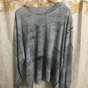 Guess jeans alligator print long sleeve